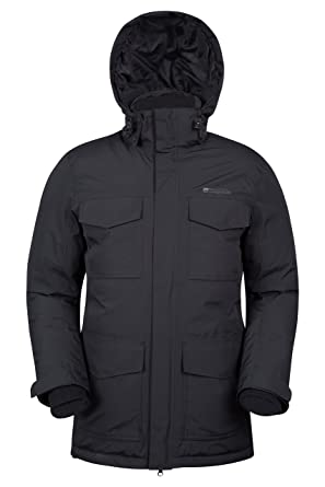 Mountain Warehouse Concord Extreme Mens Down Winter Long Jacket Black Xx Small