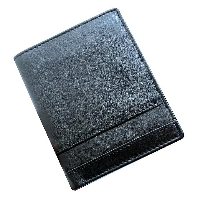 474abc20ae STARHIDE NA14 - Portafogli da uomo in vera pelle, con porta tessere e tasca  per