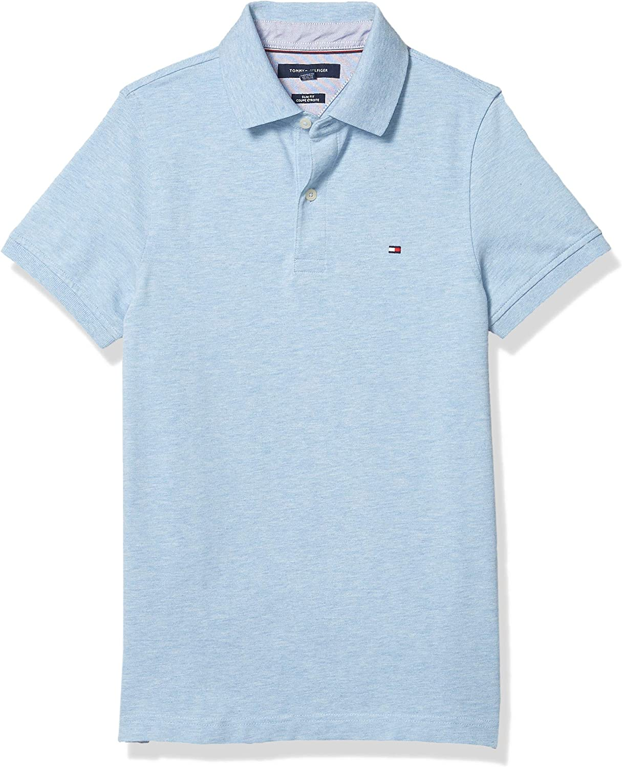 Tommy Hilfiger Men's Short Sleeve Stretch Polo Shirt in Slim Fit