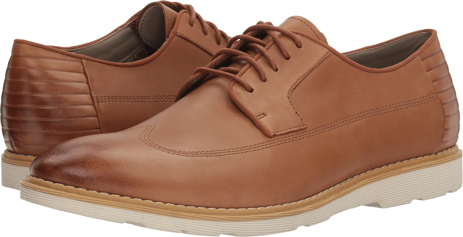 Clarks Men's Gambeson Style Wing Tip Oxford,Tan Leather,US 11 M