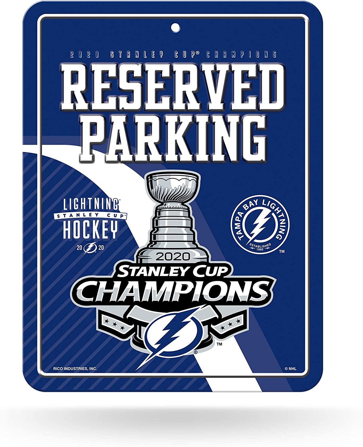 Rico Industries NHL Unisex 8-Inch by 11-Inch Metal Parking Sign Decor
