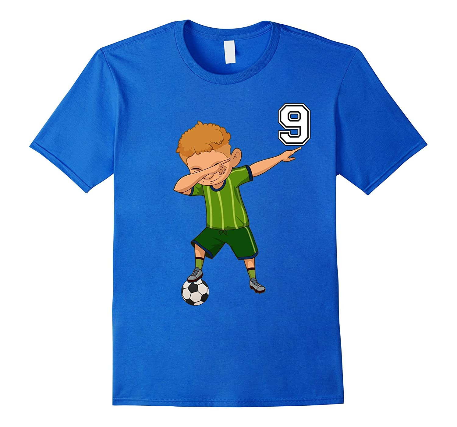 9 Soccer Shirt Boys Funny Dabbing Dab Dance Christmas Gifts-RT