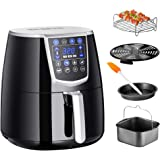 Chef's Star AF-15 1350W Premium 4.2L XL Air Fryer w/Recipe Cookbook & Attachments - Cake & Pizza Pan, Grill Skewers, Oil Brush - Healthy Frying Option For Chicken, French Fries, Onion Rings & More