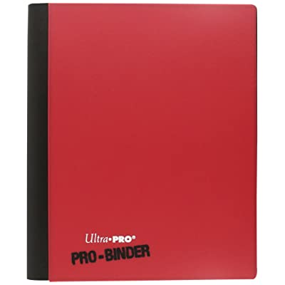Ultra Pro PRO-Binder, 4-Pocket, Red/White, All Teams: Sports & Outdoors