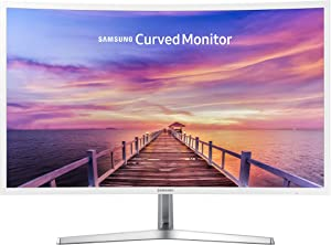 Samsung 32in Full HD Curved Screen LED TFT LCD Monitor Glossy White MagicBright FreeSync Technology Eco Saving Plus Eye Saver DisplayPort HDMI (LC32F397FWNXZA) (Renewed)