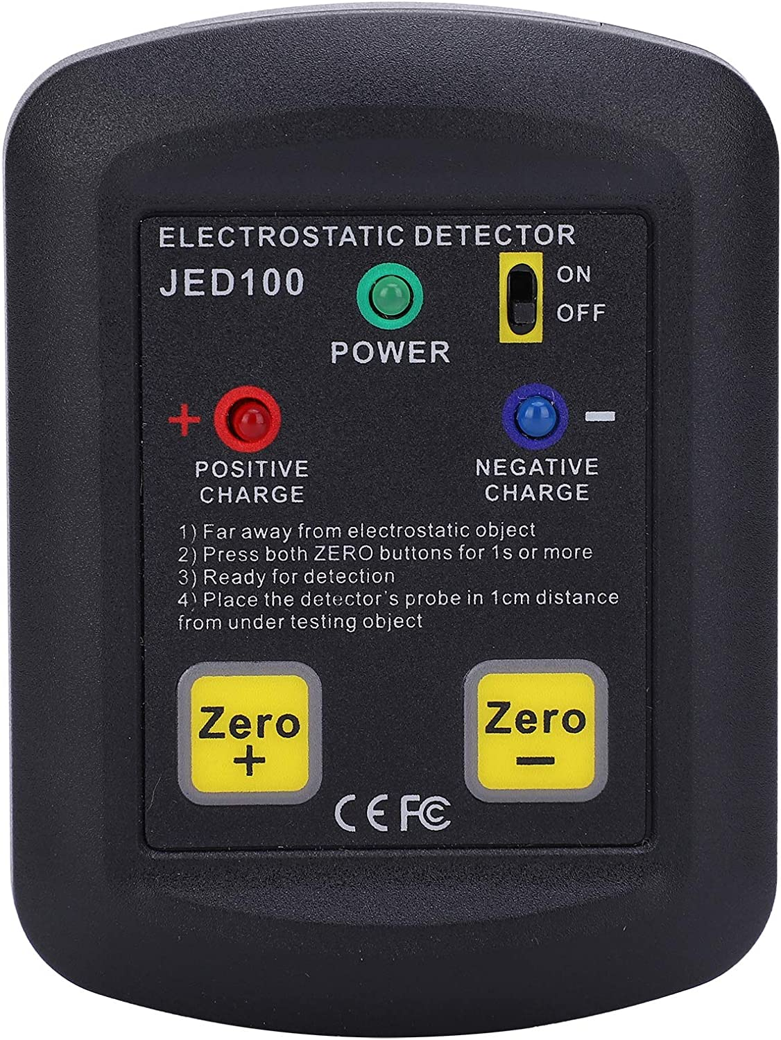 Electricity Field Meter, JED100 Electrostatic Voltage Tester Non‑Woven Fabric Static Electrostatic Field Meter
