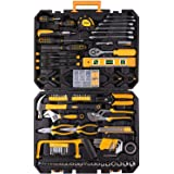 198 Piece Mechanics Tool Set Socket Wrench Auto Repair Tool Combination Mixed Tools Set Hand Tool Kit with Plastic…