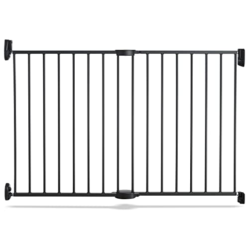 Munchkin Push to Close Hardware Baby Gate, Extends 28.5 to 45 Wide, Dark Grey, Model MK0001