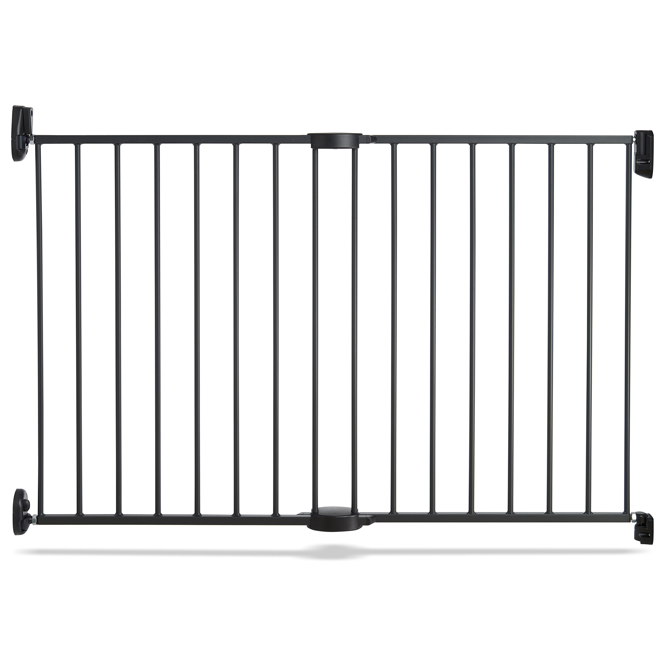 Munchkin Push to Close Hardware Baby Gate, Extends 28.5'' to 45'' Wide, Dark Grey, Model MK0001