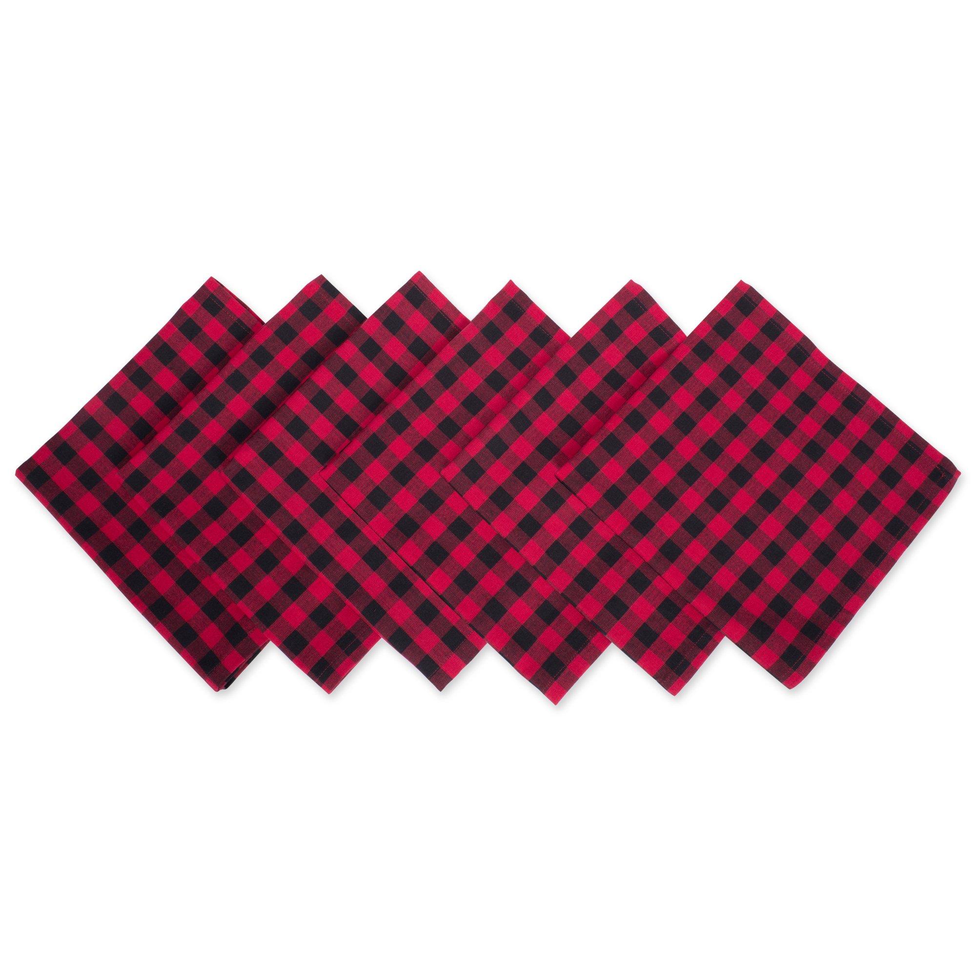 DII Logger Check Oversized Basic Everyday Napkin (Set of 6), 20'' x 20''