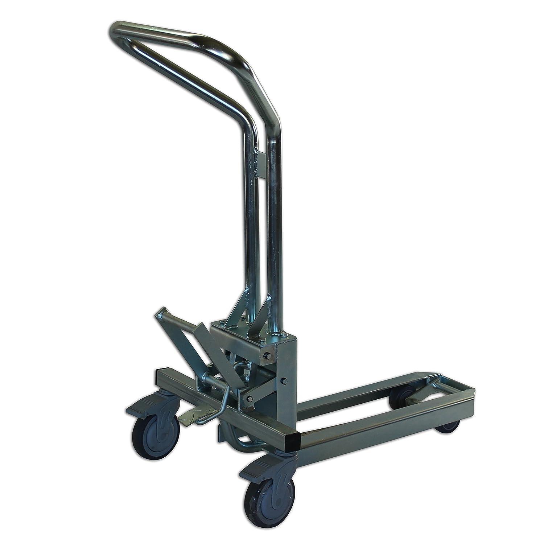 Paleta mecánico en galvanizado Acabado Transpaleta de pantalla concentrador carro carrito palé (Ideal para el transporte de 1/4 de dimensiones o venta ...