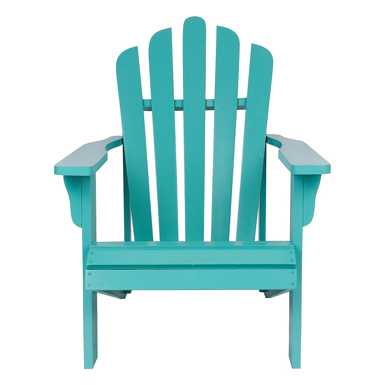 Amazon.com : Shine Company Westport Adirondack Chair, Aqua : Garden ...