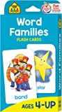 School Zone - Word Families Flash Cards - Ages 4 and Up, Preschool and Up, Beginning and Ending Sounds, Rhymes, and More