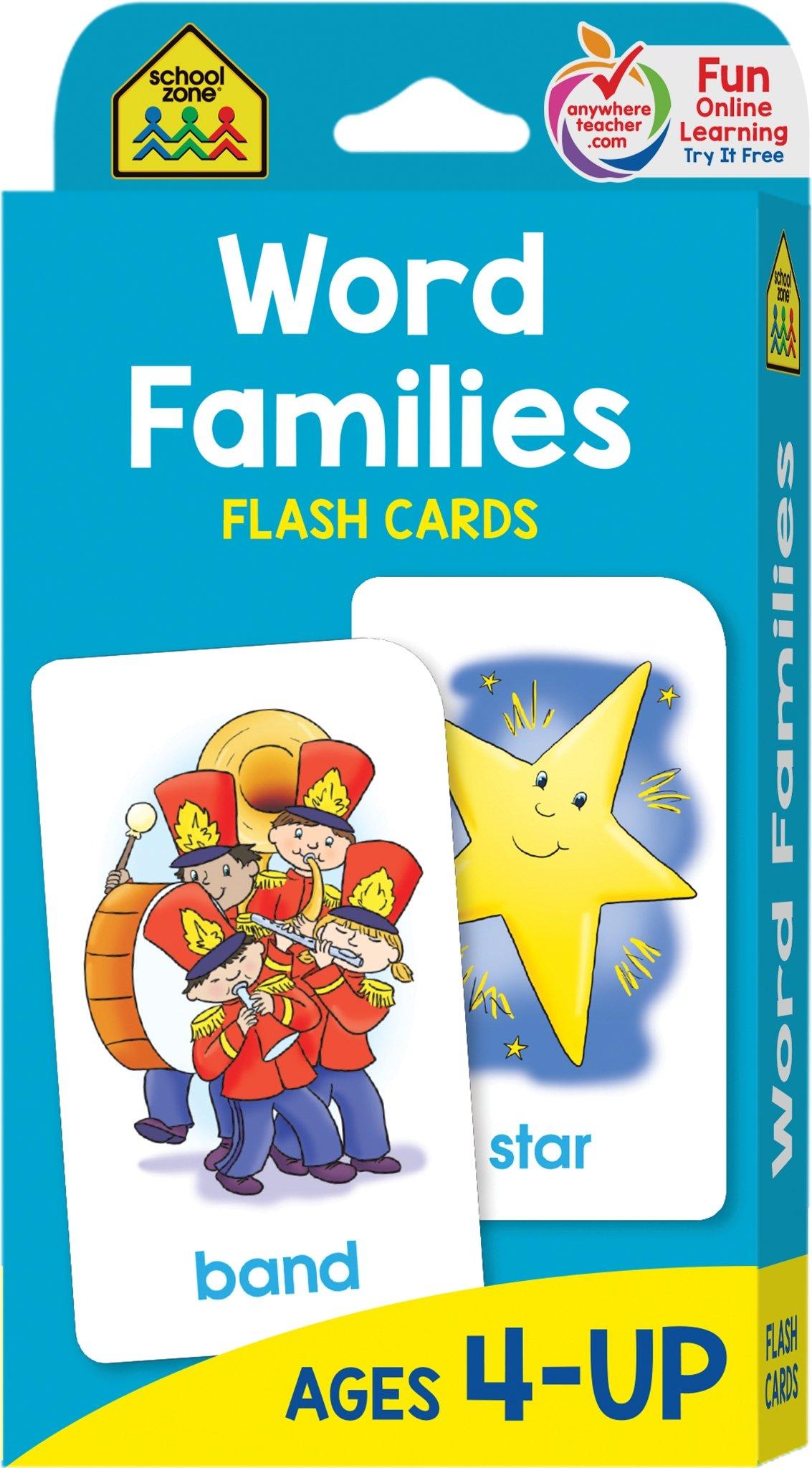 Word Families Flash Cards: School Zone Publishing Company Staff ...