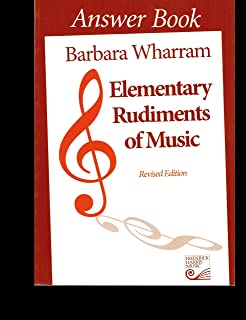Twer elementary rudiments of music 2nd edition barbara wharram elementary rudiments of music answer book revised edition fandeluxe Gallery