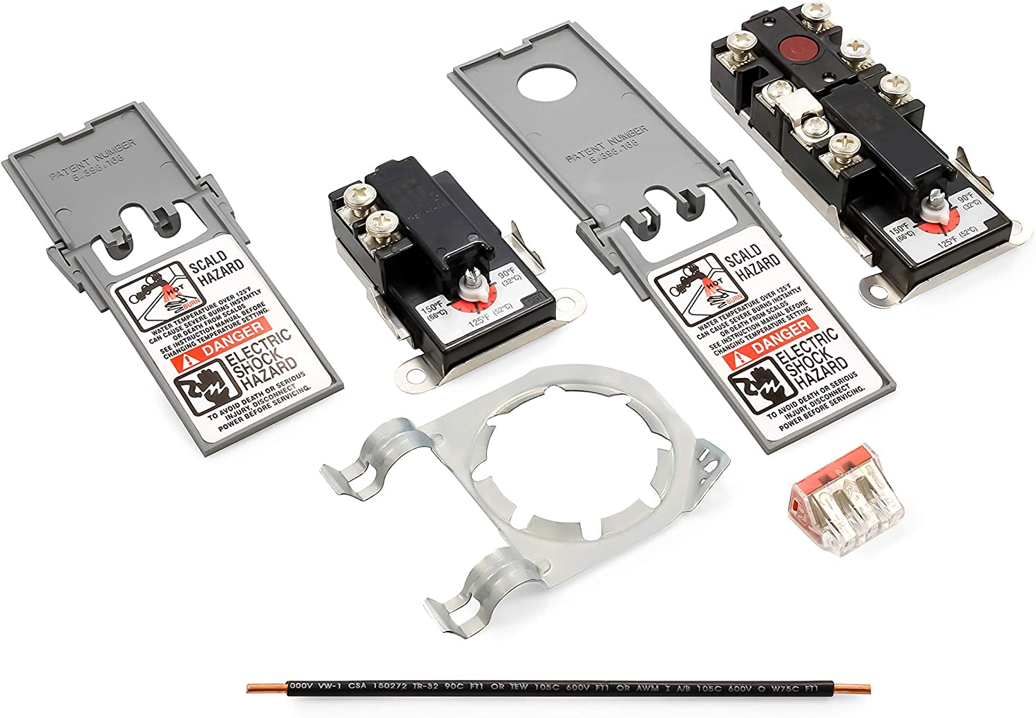 Camco 08130 Therm-O-Disc Style Upper/Lower Thermostat Kit with Jumper Wire