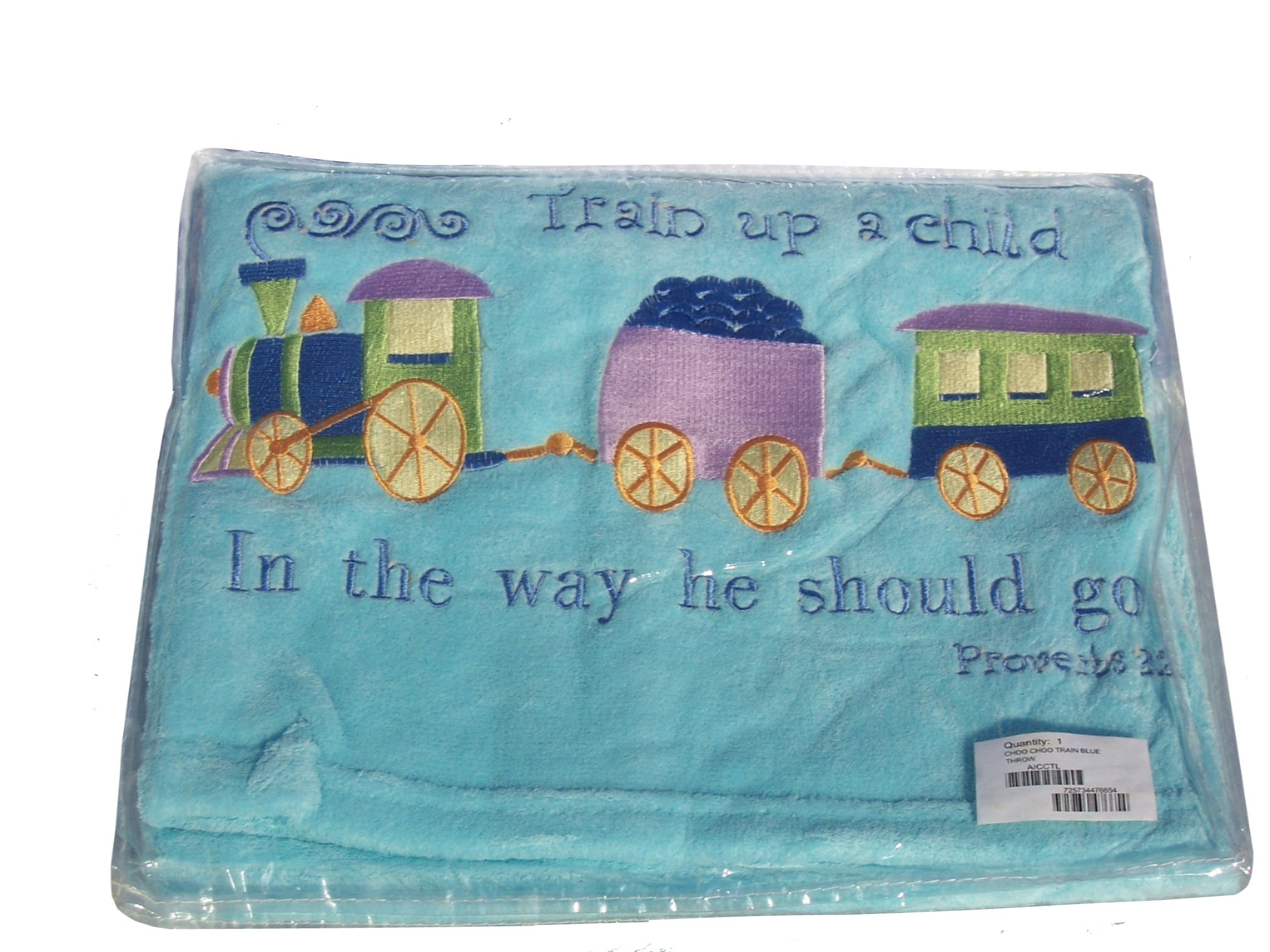 Manual Woodworkers & Weavers Choo Choo Train Fleece Blanket by Manual Woodworkers & Weavers