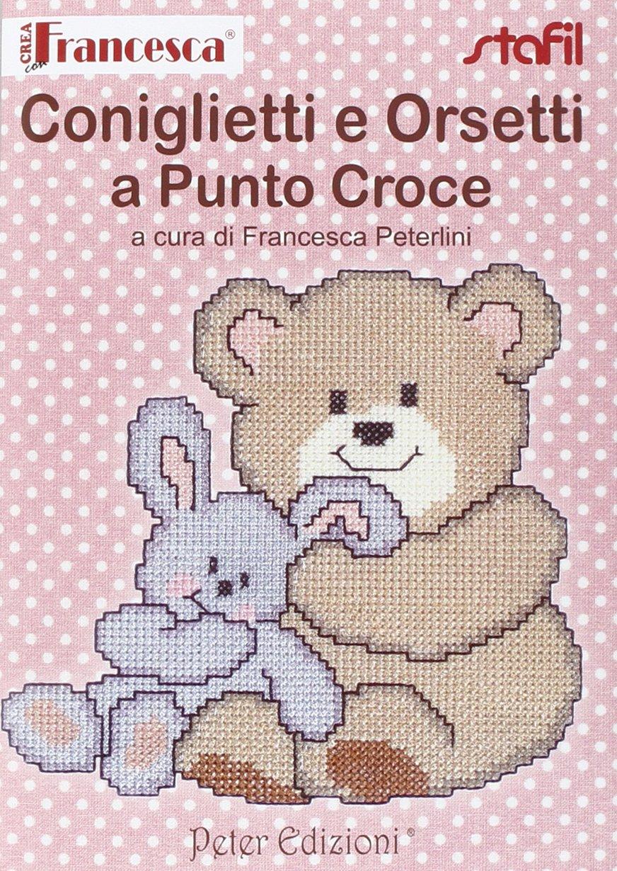 Amazon It Coniglietti E Orsetti A Punto Croce Francesca