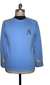 Star TREK TOS Classic Spock costume Blue - Cotton - M (disfraz ...