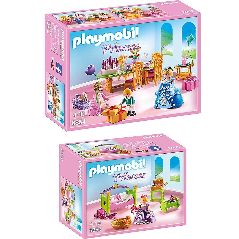PLAYMOBIL® Princess set en 2 parties 6852 6854 chambre de ...