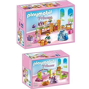 playmobil princess set en 2 parties 6852 6854 chambre de princesse fte d - Playmobil Chambres Princesses