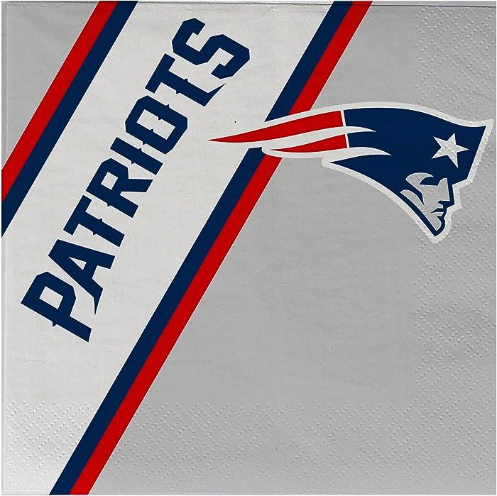 Duck House NFL New England Patriots Disposable Paper Napkins