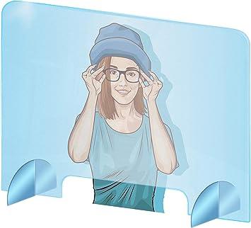 Imagen deProtección de plexiglás de vidrio acrílico - transparente plexiglás – antivirus – plexiglás incoloras - 100x70 cm