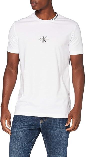 Calvin Klein Center Monogram tee Camisa para Hombre: Amazon.es: Ropa y accesorios