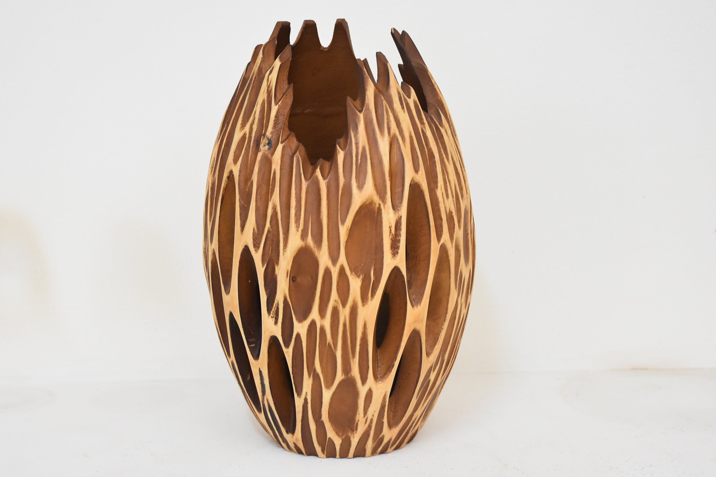 From Factory Size (8''x12''')mango wood Vases Handmade Home
