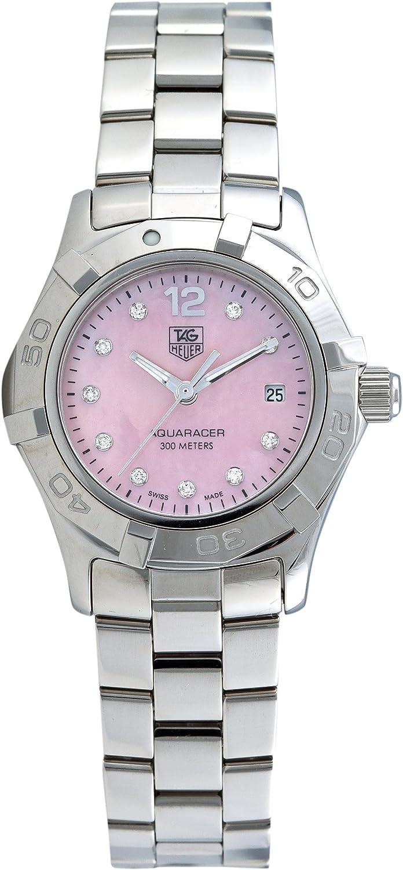 TAG Heuer Women\'s WAF141A.BA0824 Aquaracer Diamond Pink Mother-of-Pearl Dial Watch 81sX44c6SHLUL1500_