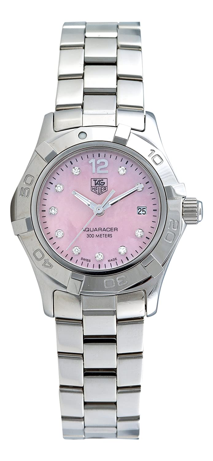 Amazon.com  TAG Heuer Women s WAF141A.BA0824 Aquaracer Diamond Pink  Mother-of-Pearl Dial Watch  Tag Heuer  Watches feb072adcb3