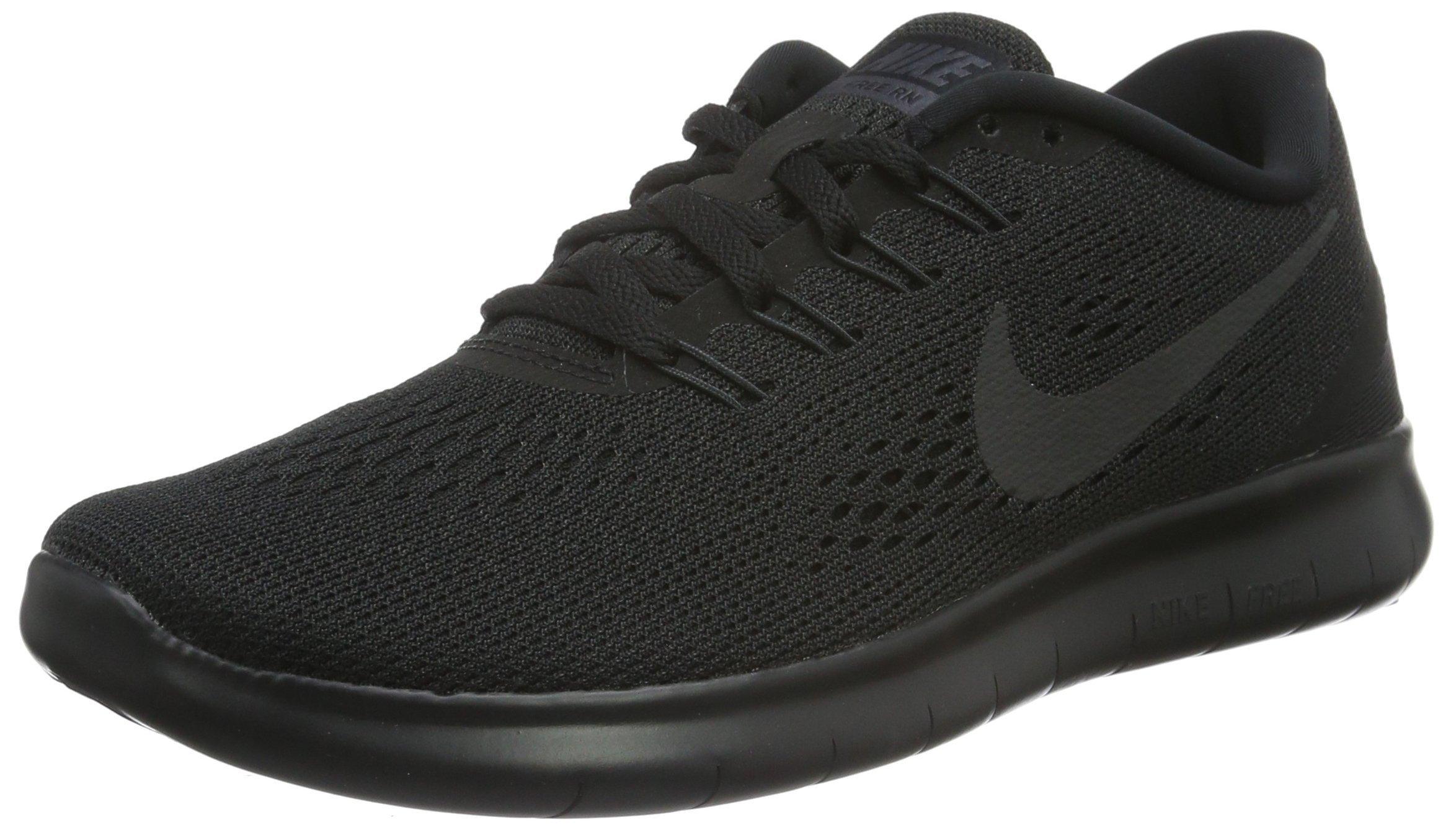 Nike Women's Free RN Black/Black Anthracite White Running Shoe 8 Women US