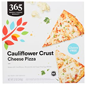 365 by Whole Foods Market, Frozen Cauliflower Crust Pizza, Cheese, 12 Ounce