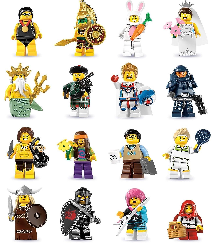 Komplettsatz Lego 8831 Minifiguren Serie 7 alle 16 Figuren / Minifigures Sammelfiguren