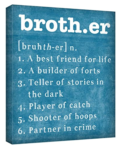 Amazon.com: Brother Wall Art - Wrapped 11x14 Canvas - Brothers ...
