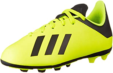new product 1b2a8 220f7 adidas X 18.4 FxG J, Chaussures de Football garçon, Jaune NegbásAmasol 001