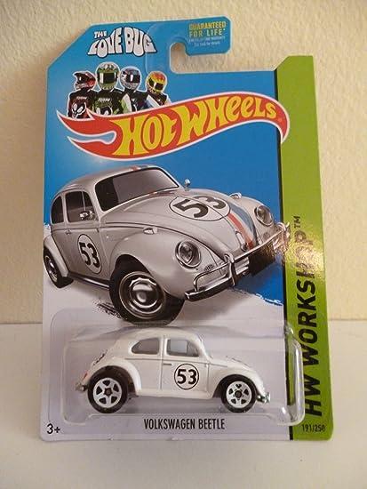 """Hot Wheels /""""Herbie the Love Bug/"""" VOLKSWAGEN BEETLE 2014 HW Workshop Free Ship"""