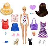 Barbie Color Reveal Doll Set with 25 Surprises Including 2 Pets & Day-to-Night Transformation: 15 Mystery Bags Contain…