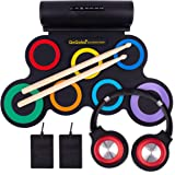 QoQoba Electronic Drum Set for Kids | Adult Beginner Pro MIDI Drum Practice Pad Kit Incl. Foldable Headphone | Drum…