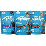 HighKey Keto Food Low Carb Snack Cookies Variety Pack - Chocolate Chip, Brownie Bites & Snickerdoodle - 3 Pack - Gluten…