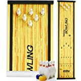 Elite Sportz Bowling Game - Indoor Table Games for Whole Family, Kids and Adults - Portable Set w/ Lane, 6 Pins, 2 Bowl…
