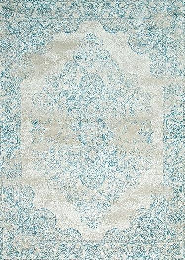 Persian-Rugs 5529 Cream Oriental 8×10 Area Rug Carpet New