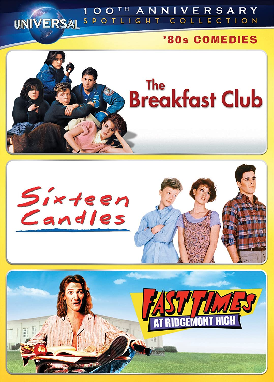 Amazon.com: '80s Comedies Spotlight Collection [The Breakfast Club, Sixteen  Candles, Fast Times at Ridgemont High] (Universal's 100th Anniversary):  Molly ...