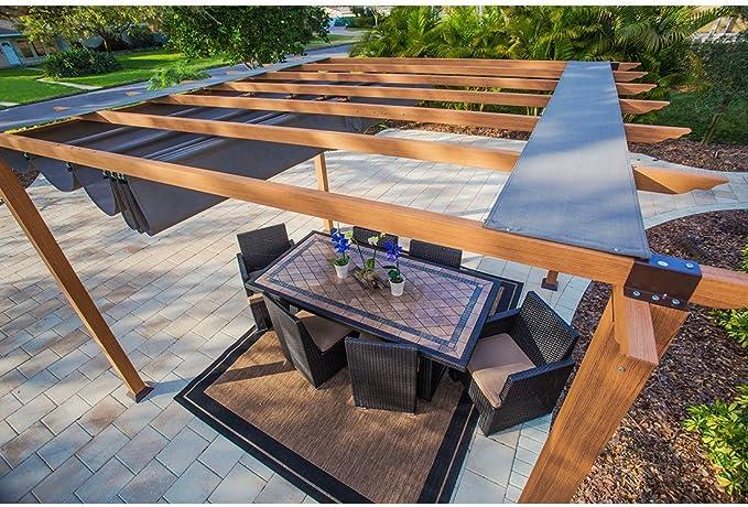 Aluminio Carpa Pabellón Gazebo Florida//350 x 350 x 229 cm//Pergola, protección solar & Verano Carpa: Amazon.es: Jardín