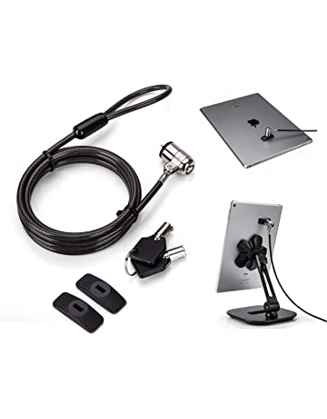 AboveTEK Cable de seguridad universal para tableta, 2 llaves, kit de bloqueo para tablet