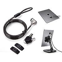 AboveTEK Laptopschloss Sicherheit Kabel, Zahlenschloss mit selbstklebenden Ankern, Selbstverteidigung Kette Schloss für iPhone, Ipad, Smartphone, Notebook, Monitor, MacBook, Laptop