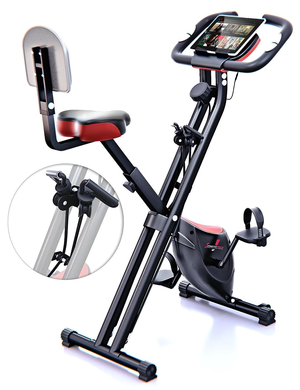 Sportstech F Bike X bicicleta estática con banda elástica patentada KG inercia