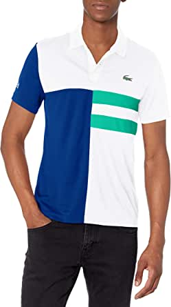 Lacoste Men's Sport Short Sleeve Colorblock Ultra Dry Polo Shirt