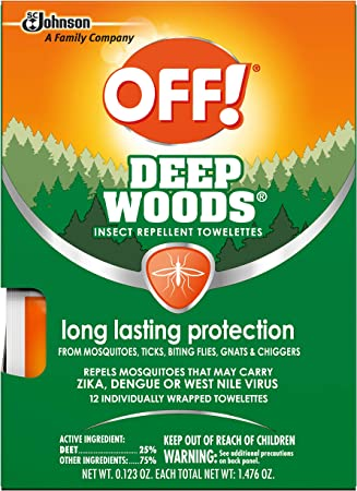 OFF! Deep Woods Mosquito and Insect Repellent Wipes (12 count)