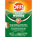 OFF! Deep Woods Mosquito and Insect Repellent Wipes, Long lasting, 12 Individually Wrapped Wipes